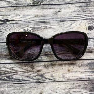Coach Black S3012 Black Sunglasses Rhinestone